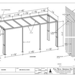 Custom canopy drawing and awning design in Van Nuys