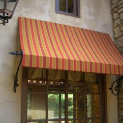 Spearhead spearhead awning with custom awning fabric