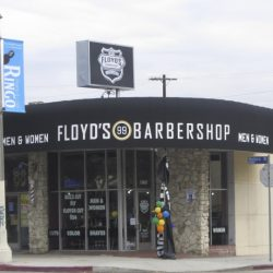 Commercial awning for Floyd's Barbershop in Van Nuys