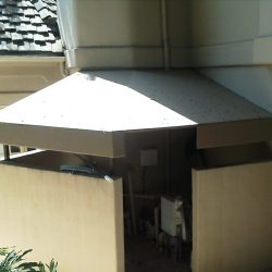 Custom residentail awning for an outdoor area