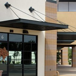 Commercial aluminum entrance and window awnings