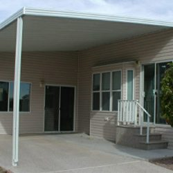 Residential aluminum awning for a driveway