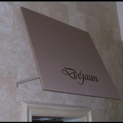Custom awning graphic designs for Dejaun