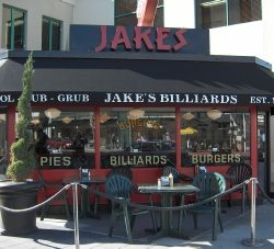 Black custom awning for Jake's Billiards