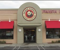 Custom window awning for Panda Express in Van Nuys