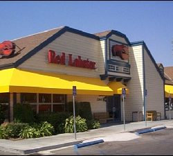 Yellow window awning for Red Lobster in Van Nuys
