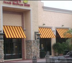 Red and yellow custom window coverings in Van Nuys