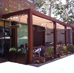 Custom patio awning for Mad Greens