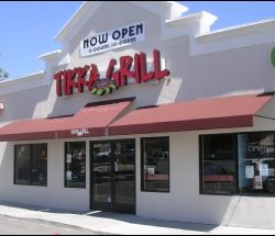Our custom restaurant awning for Tikka Grill