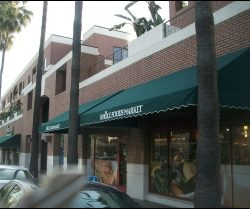 Green storefront awnings in Van Nuys