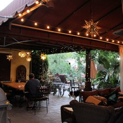 Stunning backyard with our custom awning