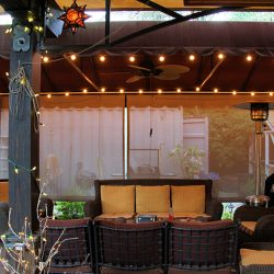 Beautiful backyard with our custom awning