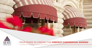 Custom commercial awnings for restaurants in Van Nuys