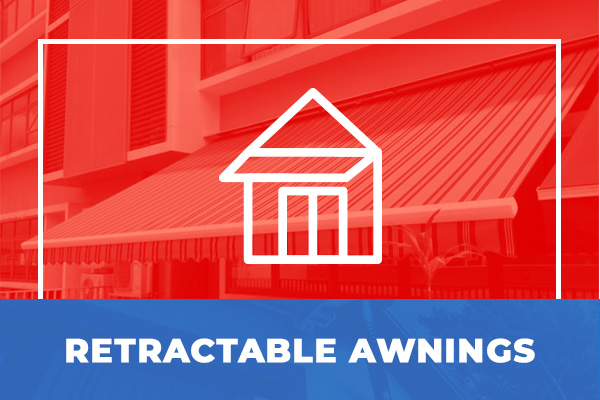 We can make custom retractable awnings for your property