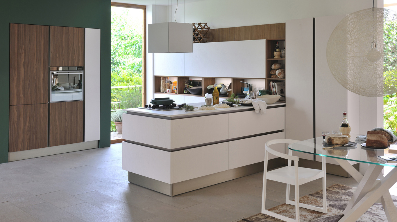 Veneta Cucine Oyster Pro Silk Bianco.Luxury Kitchen In Manhattan Oyster Pro Veneta Cucine