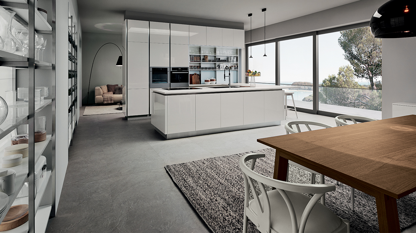 Veneta Cucine Oyster Pro Silk Bianco.Custom Kitchens In Manhattan Essence Veneta Cucine