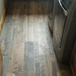 Wood Floor Installation In Laundry Room