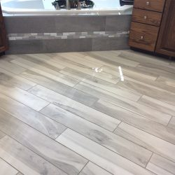Wood Floor Installation In Bathroom