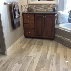 Wood Flooring In A Bathroom