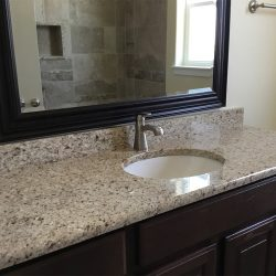 New Granite Bathroom Countertops