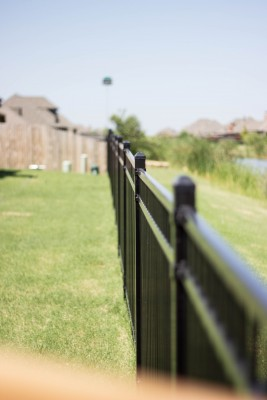 Metal fencing installation is as easy as calling the pros at VanHoose!