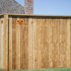 cedar privacy fence by VanHoose fencing