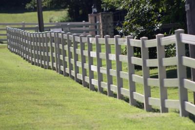 Vinyl fencing installation is as easy as calling VanHoose!