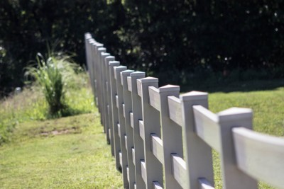 Vinyl fencing installs are one of our many specialties.