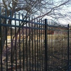 black iron fencing installation
