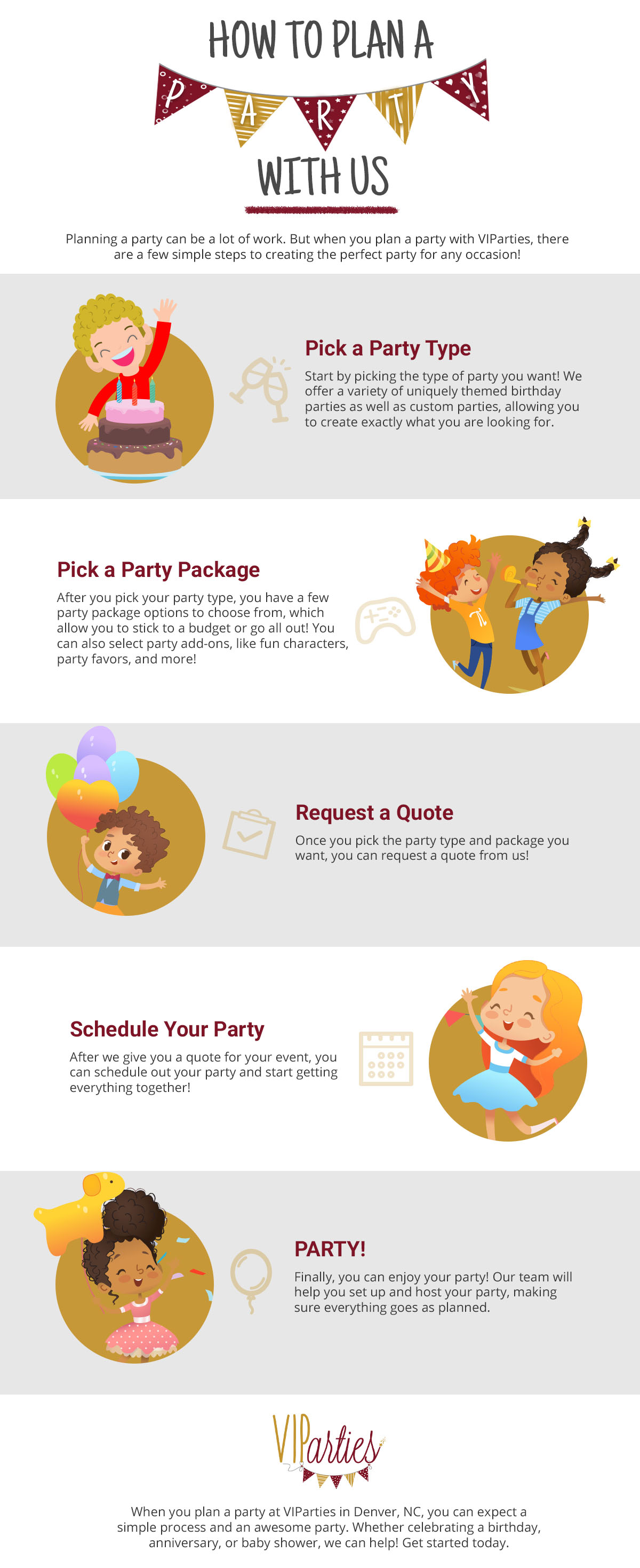 How To Plan A Party with us infographic