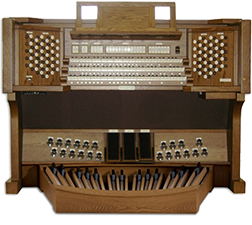 Viscount organ with stops and pedals