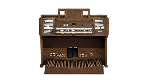 Viscount organ with dark finish