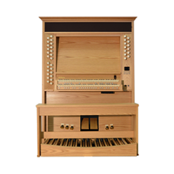 Viscount organ with light wood