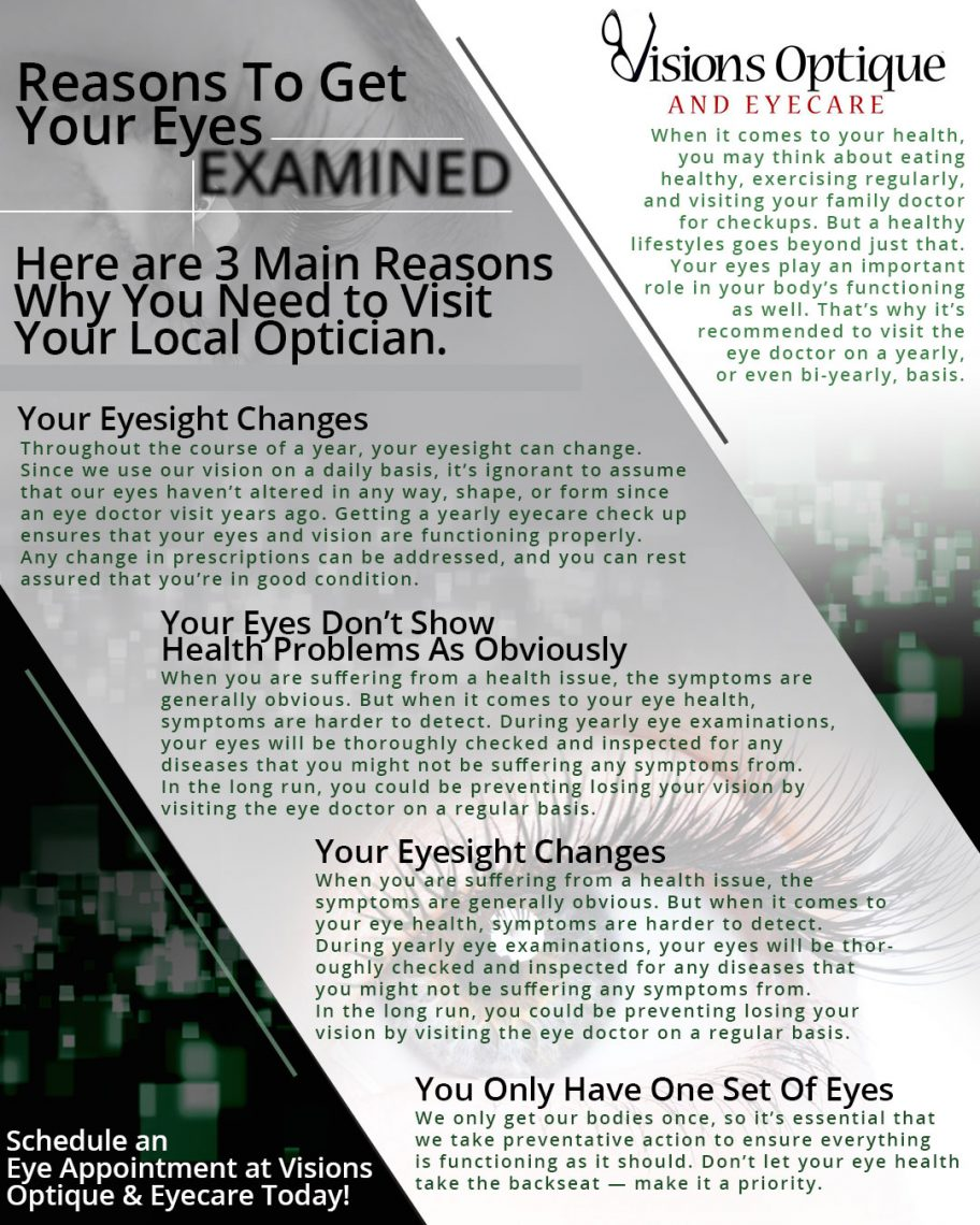 a8895f684fe Eyecare Scottsdale  Three Reasons Why You Should Get Your Eyes Examined