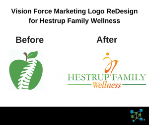 rebranding example vision force marketing portfolio image