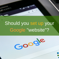 google website feature in business manager