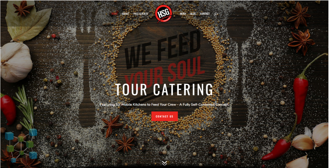 HSG Catering For VFM Website Portfolio Page