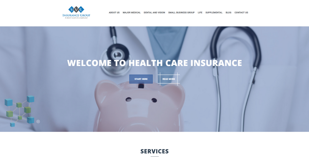 Insurance Website Example