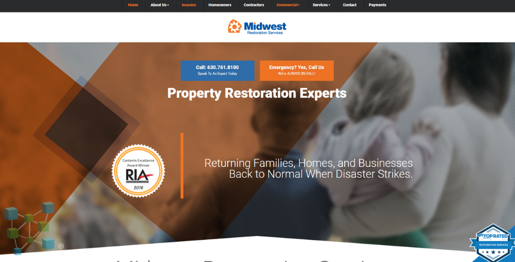 Restoration Company Website Example