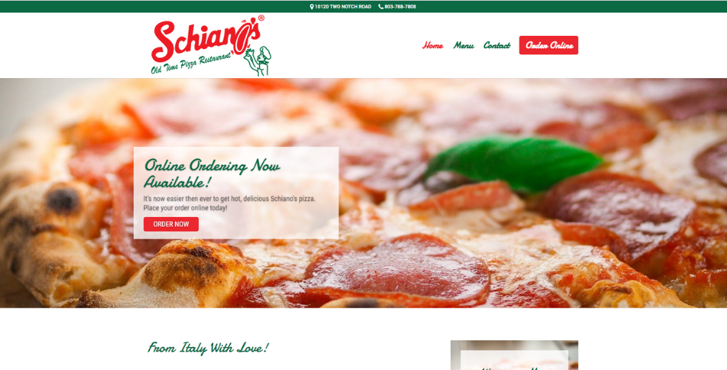 VFM 3 Page Restaurant Websites