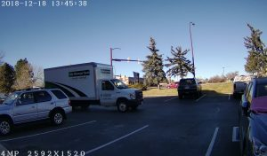 high end commercial security camera installed at denver location