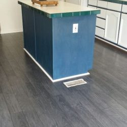 Completed kitchen wood laminate flooring