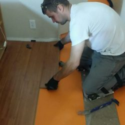 Installing a wood laminate floor