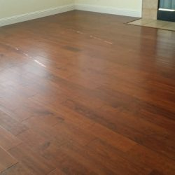 Warm brown and red laminate wood flooring