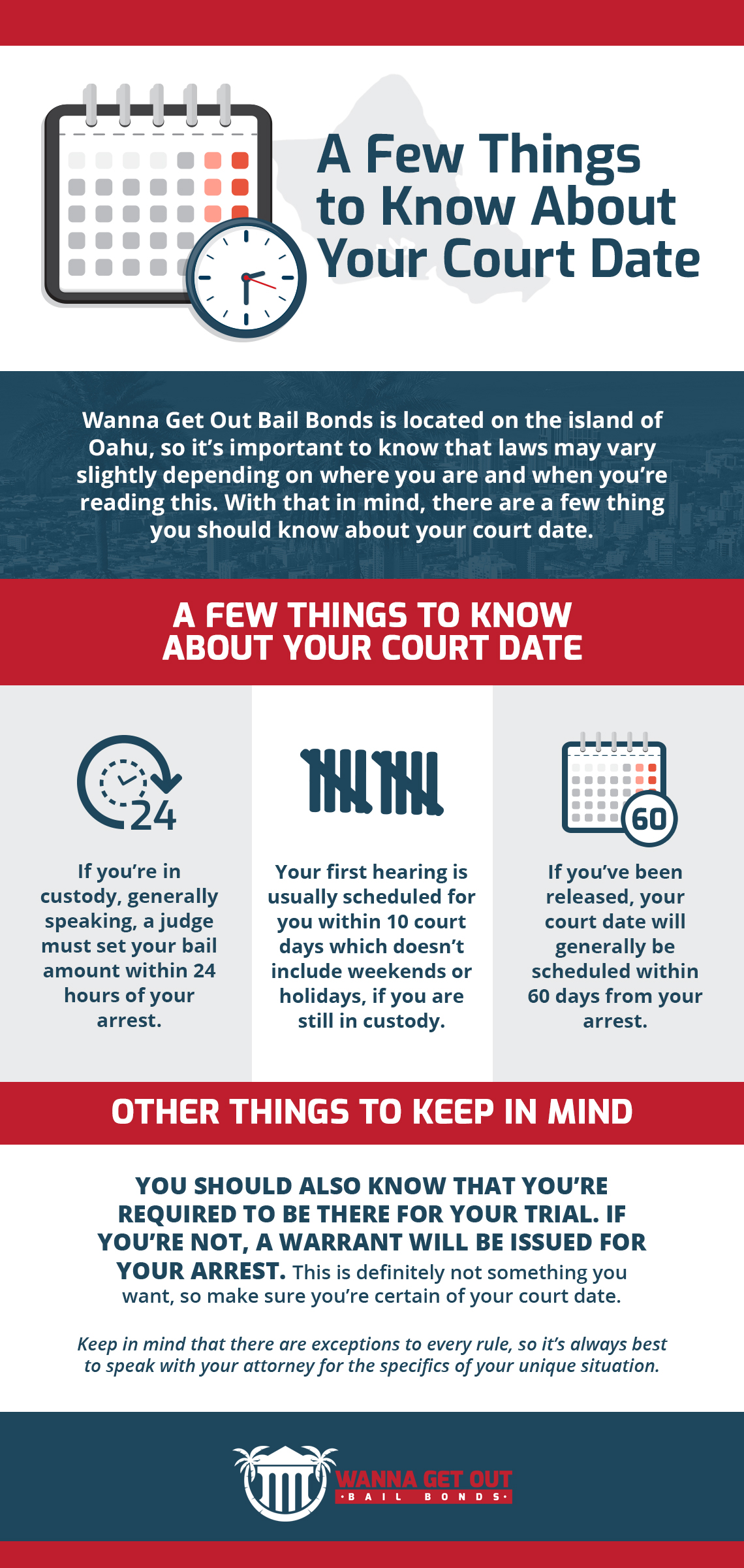 A Few Things to Know About Your Court Date