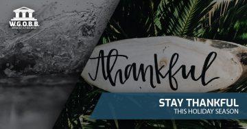 Stay Thankful This Holiday Season