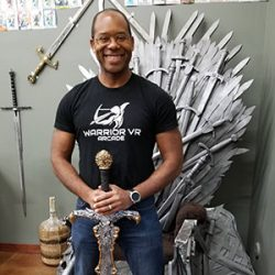 Image of game of thrones chair in Warrior VR Arcade