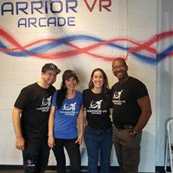 Warrior VR arcade group picture