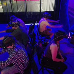 Image of multiple VR users at once