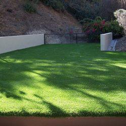 Low angle shot displaying turf on a deck